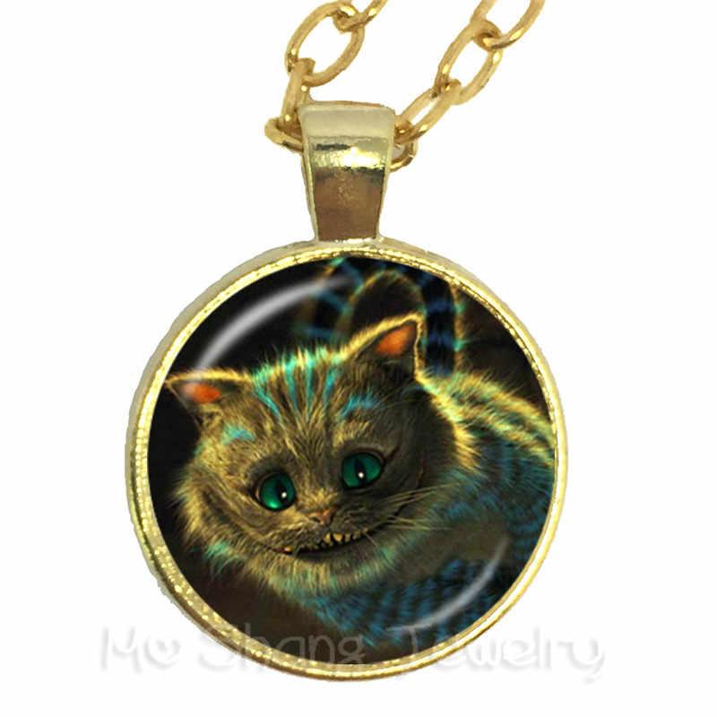 Безумный чай partвечерние Безумный Шляпник марта заяц Сказка Книги по искусству Классическая Подвеска на ожерелье Алиса в стране чудес для женщин девушка свитер цепи