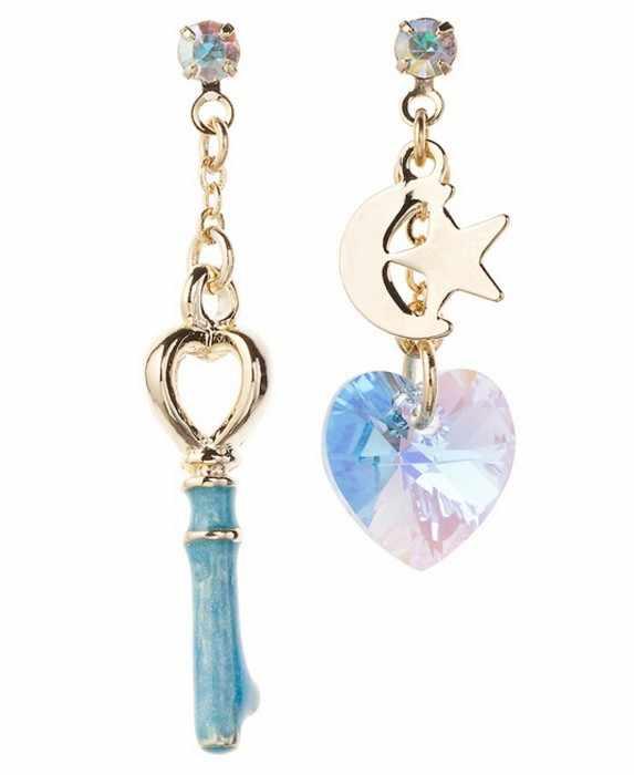 Благородные и элегантные Новые Волшебные девушки стиль в форме сердца Искусственный кристалл три цвета женские серьги Бесплатная доставка реквизит