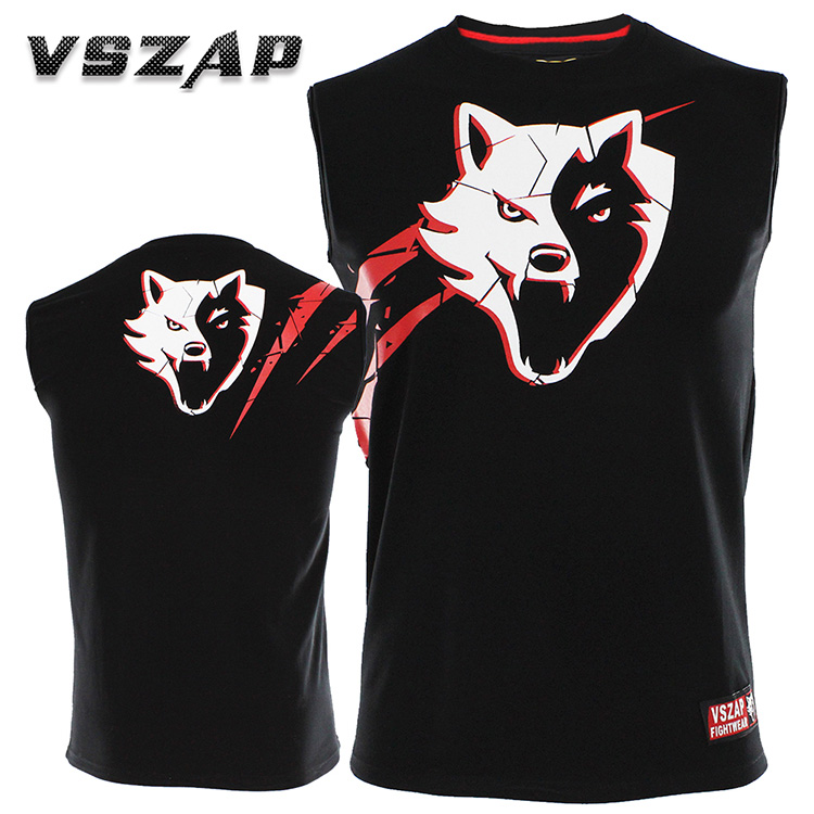 VSZAP Vest Sleeveless T-shirt Male MMA  Fight Thai Boxing Fitness Combat