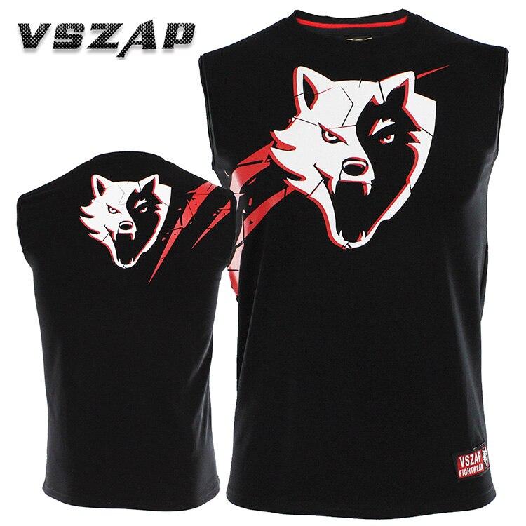 VSZAP Vest Sleeveless T-shirt Male MMA  Fight Thai Boxing Fitness Combat