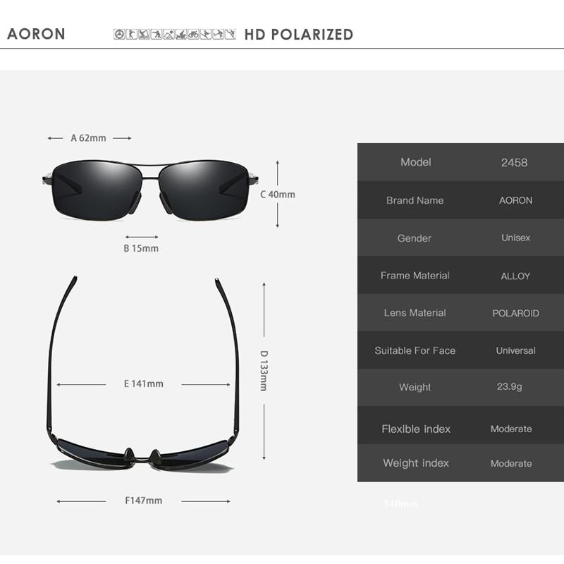 AORON Mens Kacamata Terpolarisasi Olahraga Kacamata Persegi Panjang - Aksesori pakaian - Foto 5
