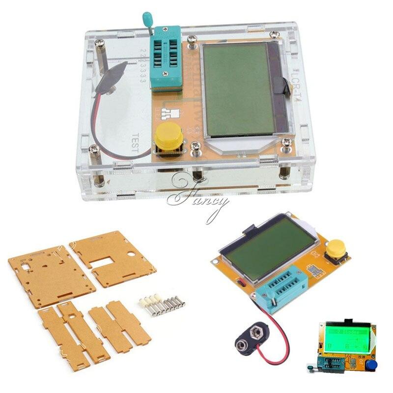 LCR-T4 Mega328 M328 Diode Triode Capacitance ESR Meter MOS PNP Transistor Tester LCD Display Transistors Diodes With Case Box 200pcs pnp transistors bc637 to 92