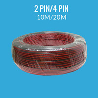 10M 20M 2PIN LED Wire Cable Red Black Wire Cable For 5050 3528 Single Color