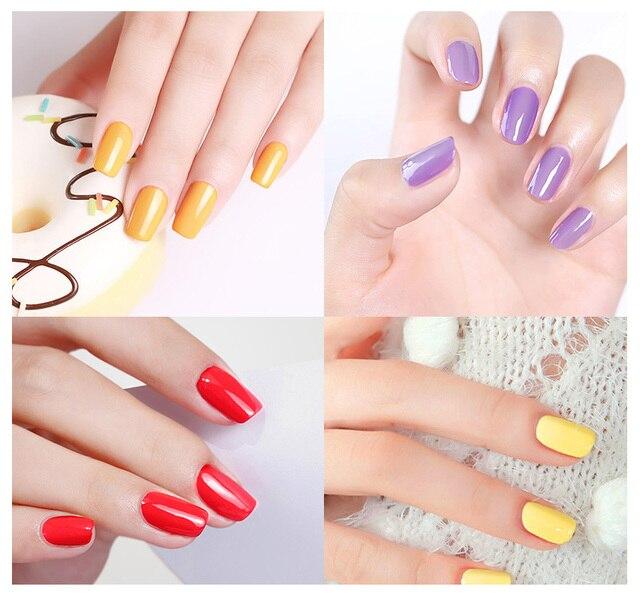ROSALIND Gel Nail Polish Set 6PCS/Set 7ML Semi Permanent Pure Colors UV LED Soak off Manicure Set Nails Art for Design Nail Kit 5