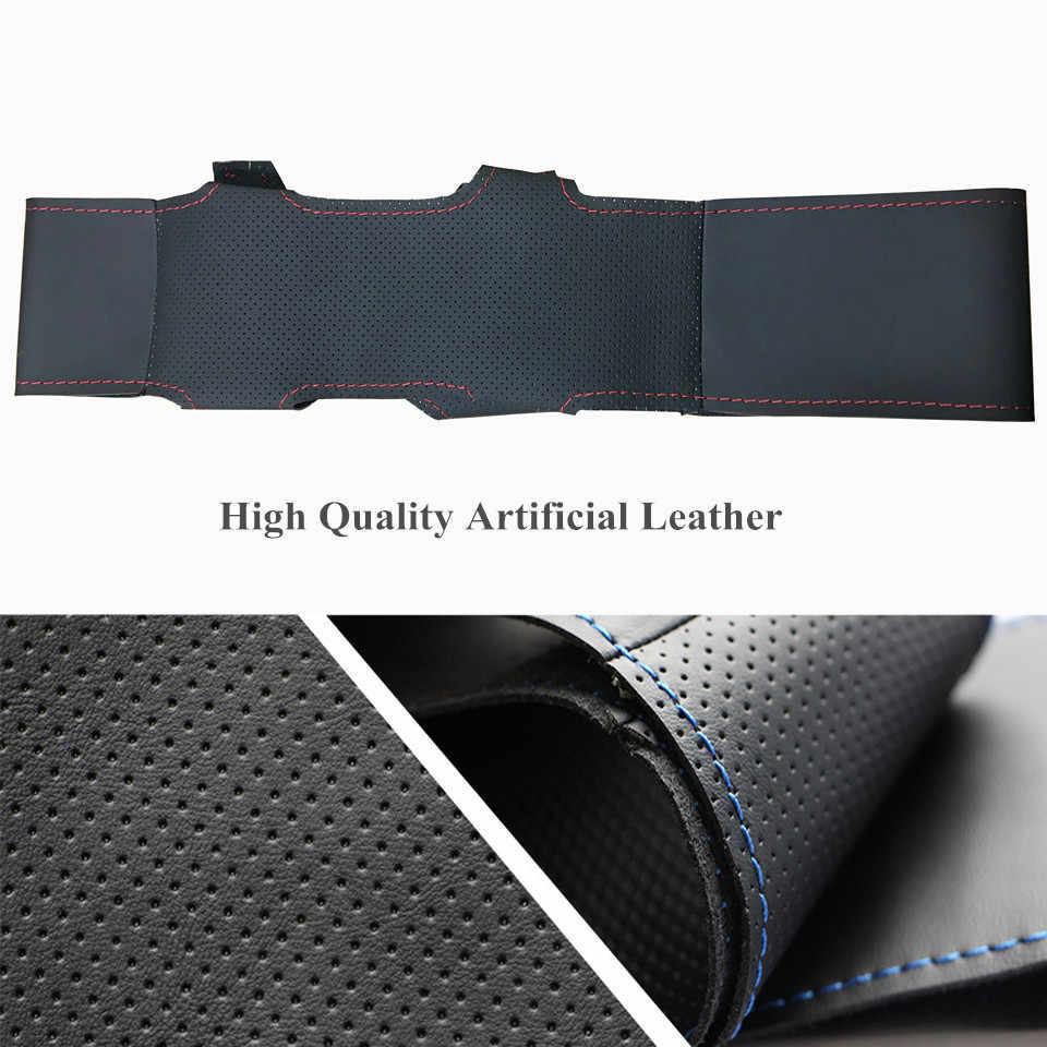 Couvre-volant bricolage noir en cuir artificiel pour Nissan Tiida 2004-2010 Sylphy 2006-2011 Versa 2007-2011 Versa Note