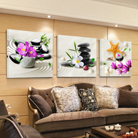 DIY 5d Diamond Painting beach stone flowers triptych Cross Stitch Diamond Embroidery Icon Rhinestone Home Decor mosaic Painting