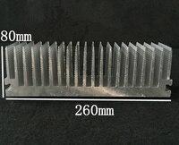 Алюминий теплоотвод электронный теплоотвод ширина 260 мм, высокая 80 мм произвольной длины 260*80*300/400/500 мм модуль PCB теплоотводы