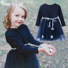 Bear Leader Girls Dress Pentagram Princess Dress Brand Girls Clothes Children Clothing European and American Style Girls Dresses(China)