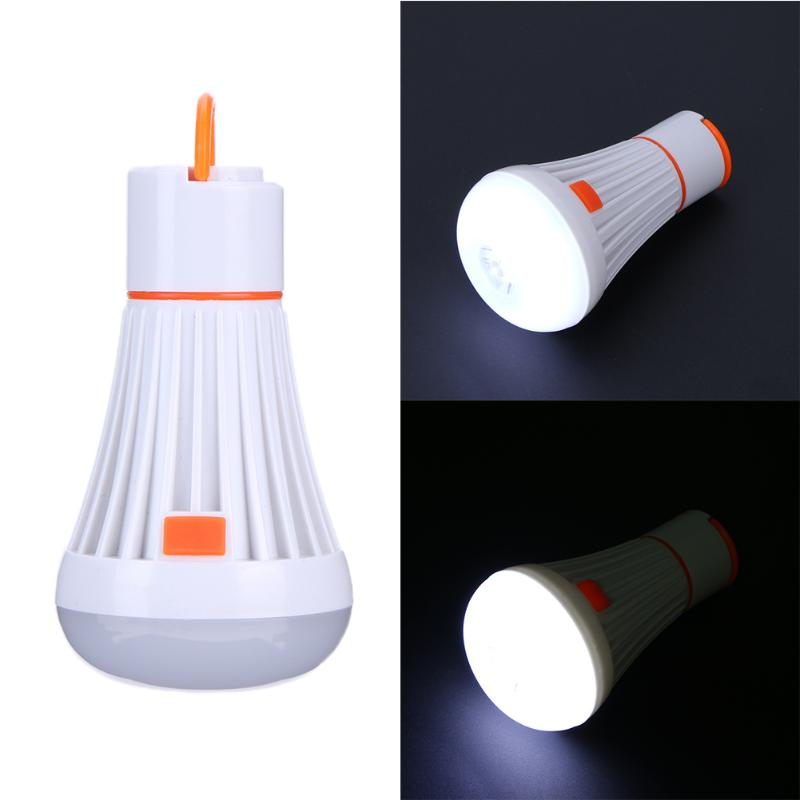 LED Hanging Camping Bulb Outdoor Hook Tent Emergency Lamp Portable Lanterns Night Light 6+1LED