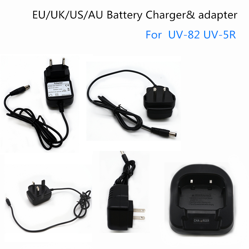 BaoFeng AU/EU/UK/US Car Battery Charger Adapter For Ham Radio UV-82 UV-5R Walkie Talkie UV 82 Two Way Radio UV 5R BF-UV82