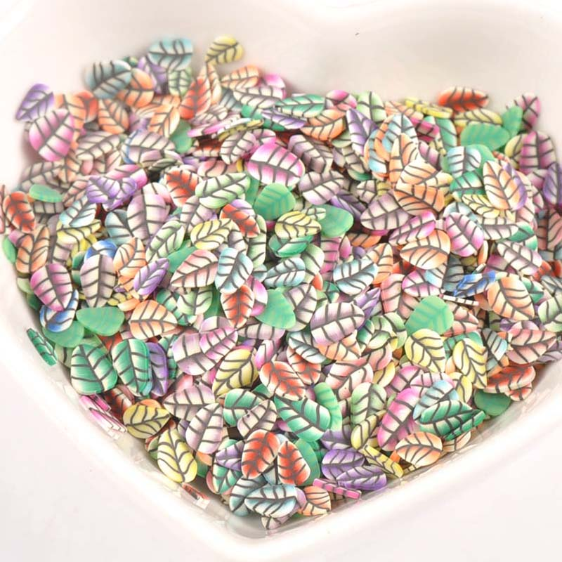 Home & Garden Motivated 1000pieces Decor Leaf Polymer Clay Toy Diy Slime Accessories Decoration Jelly Mud Hand Gum For Kids Nails Art Tips Toys Cp2211 Elegant And Sturdy Package Diy Craft Supplies