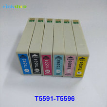 лучшая цена T5591 - T5596 Ink Cartridge for Epson RX700 Printer Cartridge For Epson Stylus RX700 printer ink