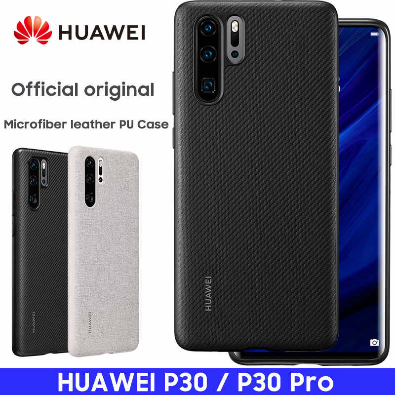HUAWEI P30 Pro Case Official Original Full Cover Prevents Fingerprints Microfiber Fiber Leather HUAWEI P30 Case Back Cover