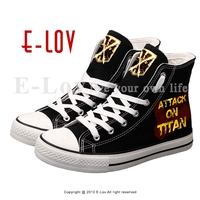 E LOV Personality Printed Lace Up Canvas Shoes Hot Anime Men Boys Casual Flat Shoes Street