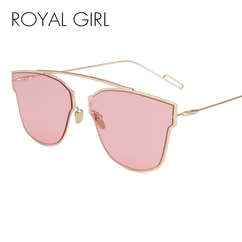 ROYAL GIRL High Quality Classic Metal Wire Frame Solglasögon Kvinnor Märke Designer Shades Plain Eyeglasses Sunnies Oculos ss367