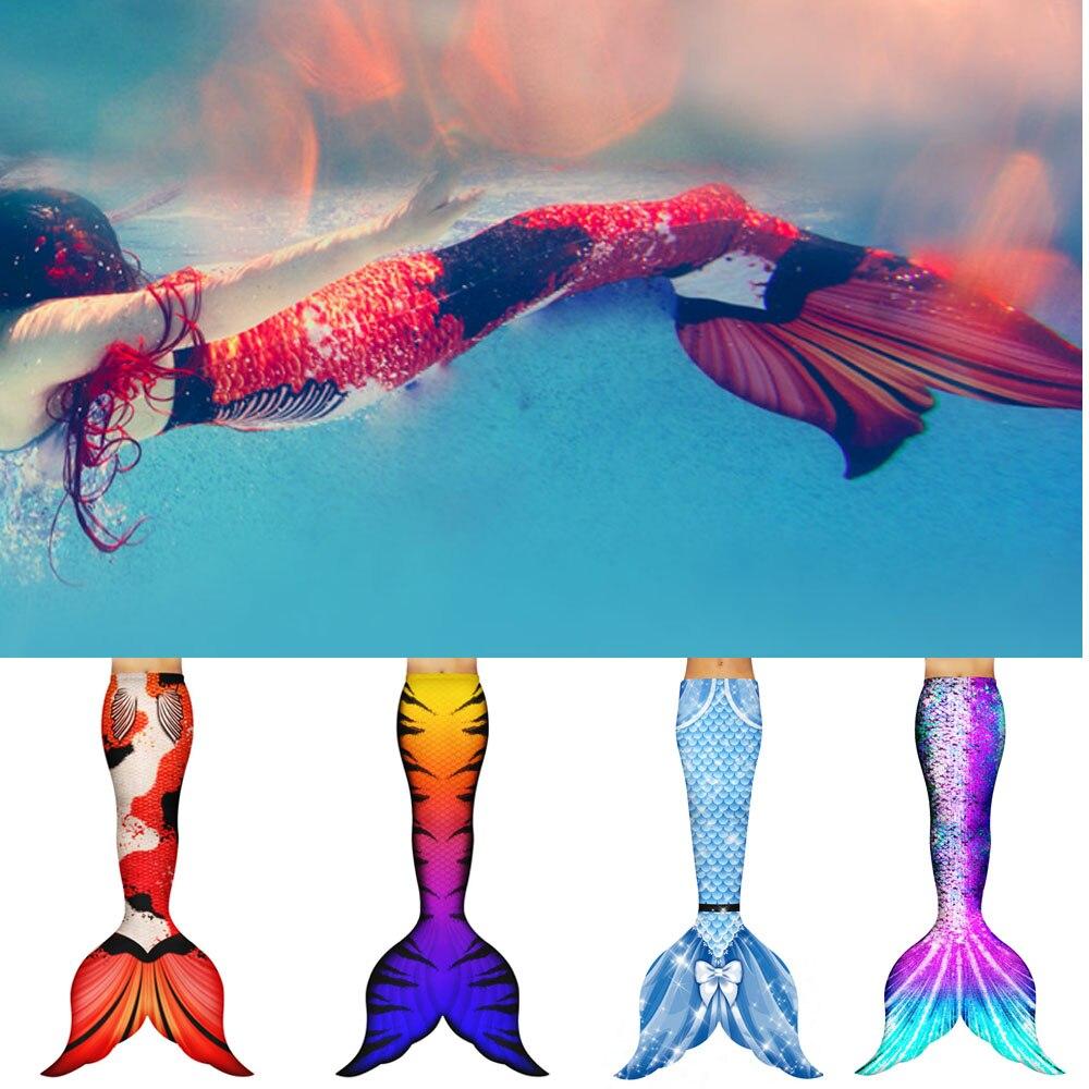 Nouvelle queue de sirène nagable personnalisée sans Monofin pour la natation sirène Cosplay Costume plage artefact