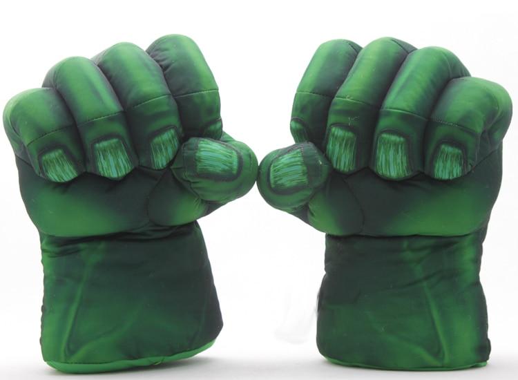 Plush The Incredible Hulk Gloves 11 Superhero Figure Hulk Toys Children Christmas Kids Toy Free Shipping 1set 13 incredible hulk smash hands spider man plush gloves spiderman performing props toys free shipping