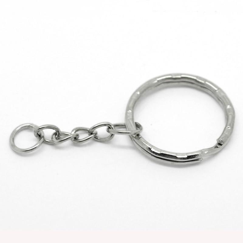 DoreenBeads 30PCs Silver Tone Key Chains Key Rings 53mm 2 1 8 long B19405 keychain