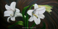 Handmade oil painting flower designs Professional Artists 100% Handpainted Lily Oil Painting Canvas for Home Hotel Wall Decor