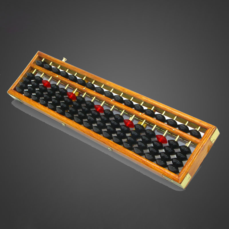 17 column wooden Abacus Chinese soroban Tool In Mathematics Education calculation tool yo018
