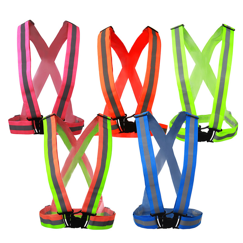 Colorful Vest High Visibility Safety Vest Reflective Belt Safety Vest Fit For Running Cycling Sports Outdoor Traffic Clothes