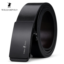 Williampolo 2019 Fashion Genuine Leather Belts Men Super High Quality Luxury Automatic Buckle Cow Belt PL068-70P