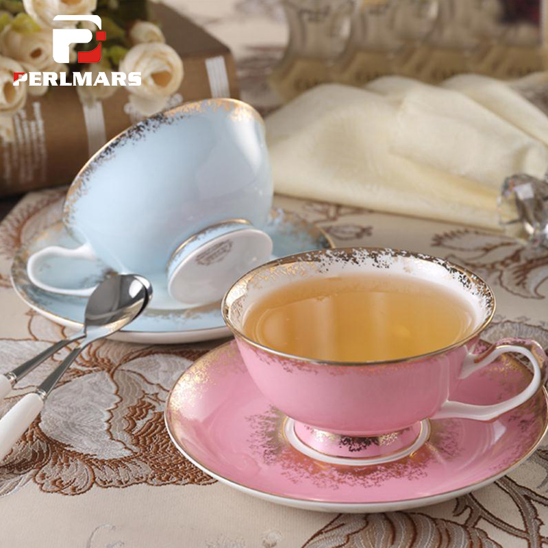 200cc Creative Ceramic Bone china Coffee Cup with Saucer Kit Home Drinkware Office Master Fruit Juice Milk Oatmeal Mug for Gifts