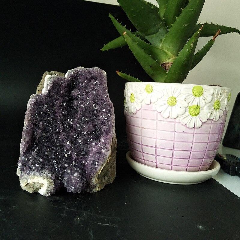 Ev ve Bahçe'ten Taşlar'de Taşlar Doğal ametist taş kristal küme ev dekor taşlar ve mineraller Ev dekorasyon ekran'da  Grup 1