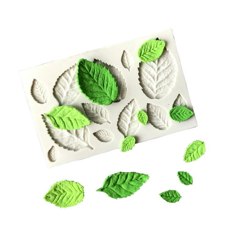 Hot Diy Tree Leaf Press Molding Foil Mold Silicone Mold ...  Plane Tree Leaf Silicone Molds