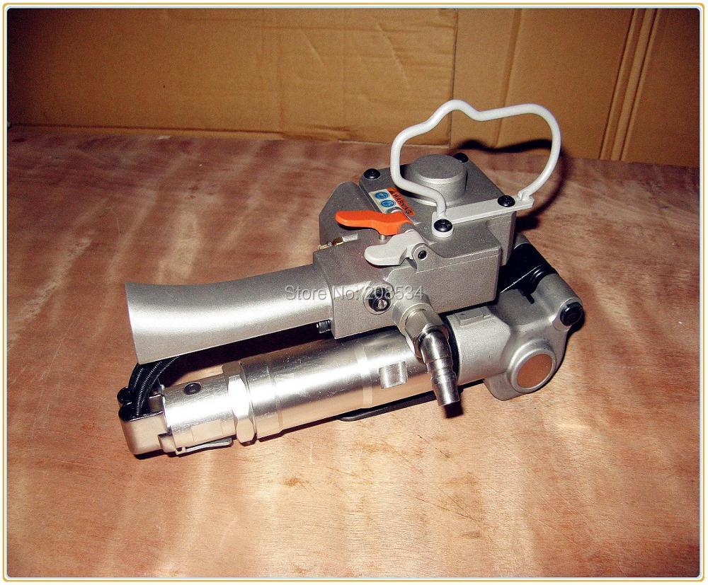 """""""XQD-19"""" nešiojamas pneumatinis plastiko / PET / poli (Friciton) šiluminio suvirinimo surišimo įrankis, PP surišimo juosta 13–19 mm (įtempimas> 3000 N)"""