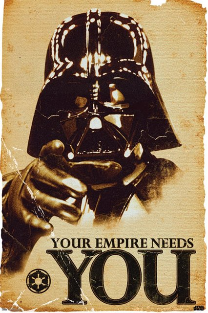 Star Wars Your Empire Needs You Print Poster 27x40cm Posters