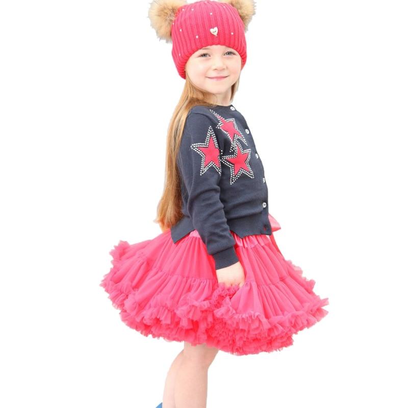 Baby Girls Kids Tutu Skirts Fluffy Chiffon Pettiskirts Children Clothes Princess Dance Party Tulle TuTu Petticoat Wholesale B125