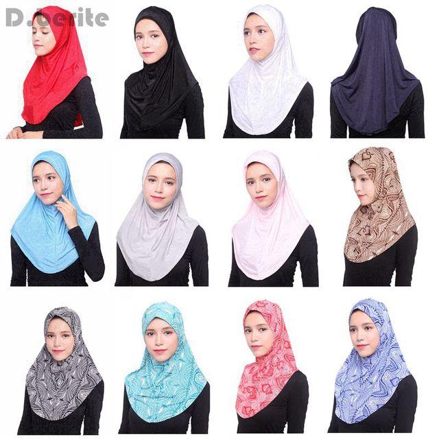 Muslim Fashion Women Soft Scarf Islamic Hijab Inner Cap Long Wrap Headwear Shawl World Apparel DAJ9121