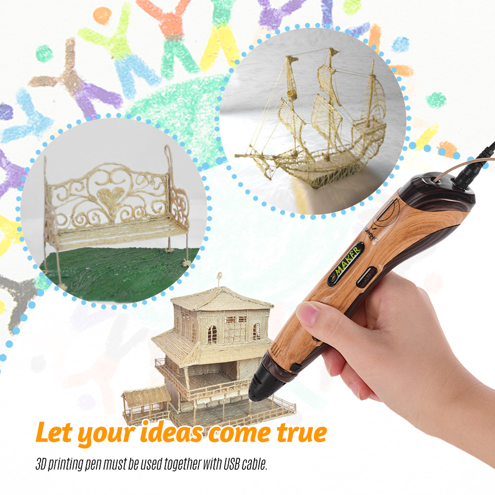 3D Printing Pen With Pen Guard and USB Cable Perfect Gift For Children