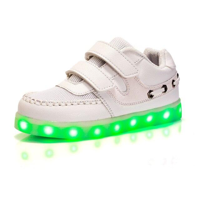KRIATIV 2018 טעינת USB קיד אור את נעלי ילדי נעלי בית לעשות עם אור led למעלה זוהר ניאון נעלי ספורט עבור ילד וילדה