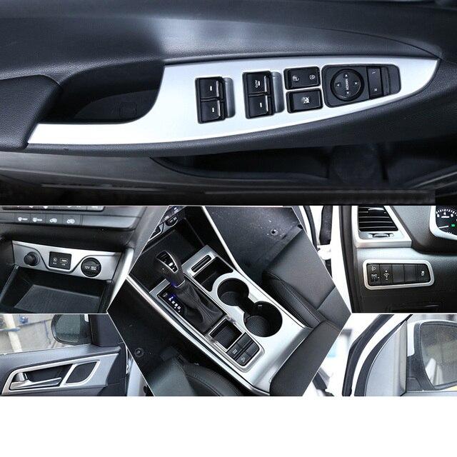 Lsrtw2017 Abs интерьер автомобиля планки центральный контроль рамка для задней панели планки для hyundai Tucson 2015 2016 2017 2018