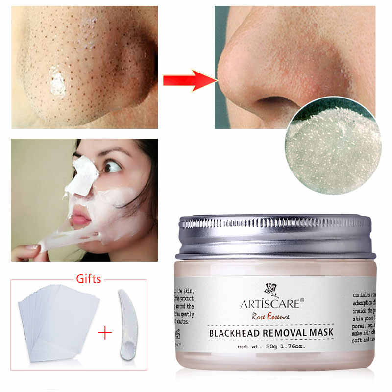 ARTISCARE Mitesser Entferner Gesicht Maske Hautpflege Poren Streifen Nase Schwarz Maske Peeling Schwarz Kopf Entfernung Tiefe Reinigung Gesichts Maske