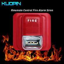купить Wireless Fire Alarm Siren 433HMz Frequency For Home Security Fire Alarm Systems Flashing Light And 120dB Sound Strobe Siren по цене 1121.31 рублей