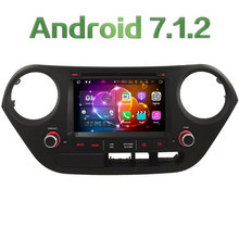 "7"" Quad Core Android 7.1 HD 2GB RAM 4G DAB+ WiFi Multimedia Car DVD Player Radio Stereo GPS Navi For Hyundai I10 LHD 2014-2017"