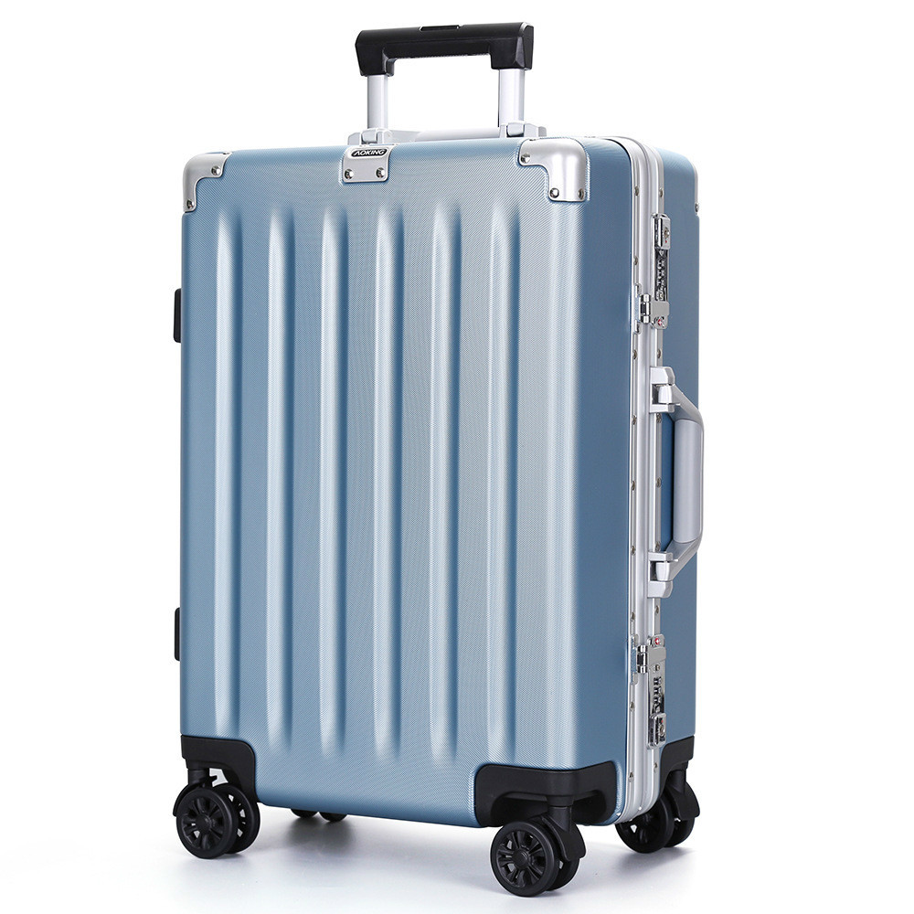 20'' 24'' 28'' Aluminium Frame custom lock blue pink black silver maleta trolley valise luggage suitcase mala