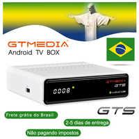 Récepteur Satellite GTmedia GTS Android6.0 IPTV CCcam TV BOX + DVB-S/S2 décodeur WiFi 4K support iptv m3u brésil europe