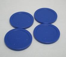 Free shipping 4pcs/lot 63mm 2-1/2″ blue Air hockey table pusher puck mallet GoalieS 6011