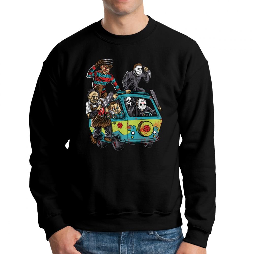 59abbde72e6 Men s The Massacre Machine Horror Sweatshirt Chucky Jason Voorhees Michael  Myers Hoodie Freddy Pullover 100% Cotton Hoodie Print-in Hoodies    Sweatshirts ...