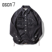 OSCN7 Fashion High Quality Denim Jacket Men Autumn Winter Retro Original Design Jacket Men Coat Slim