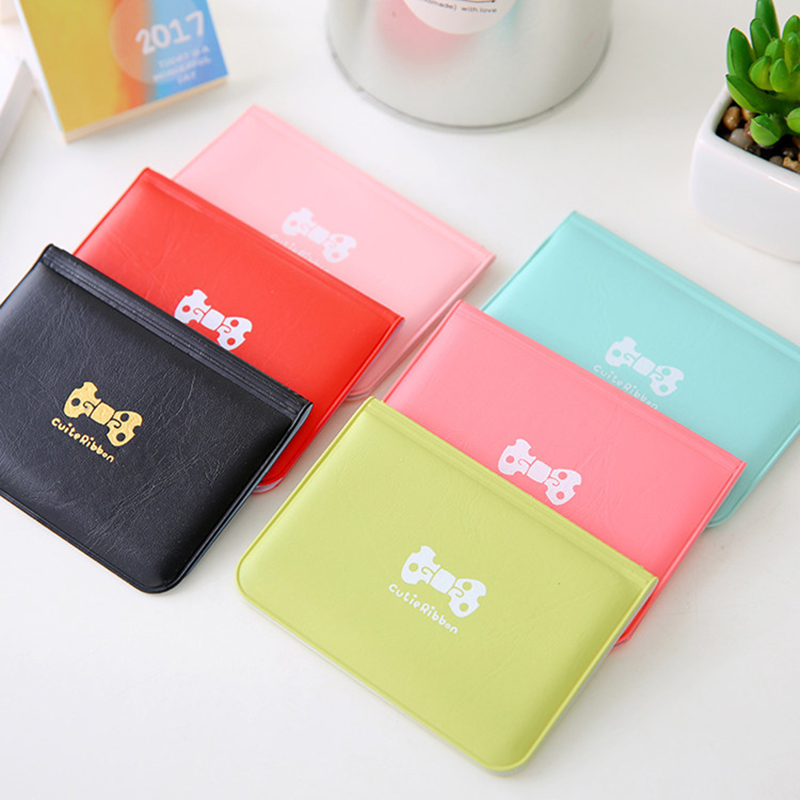 Cheap Pink Red PVC 12 Card Slots Credit Holder Fashion Women Bag Transport Bus Car Card Business Credit Card Cover Case