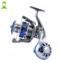 JSM Full Metal Spinning Fishing Reels 12+1 Ball Bearings High Speed Saltwater Spinning Reel for fly fishing size 4000-7000