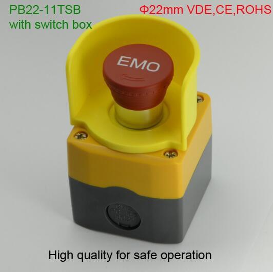 ELEWIND high quality Emergency stop switch with switch box (PB22-11TSB/IP65 with switch box) kid's box upd 2ed pb 1