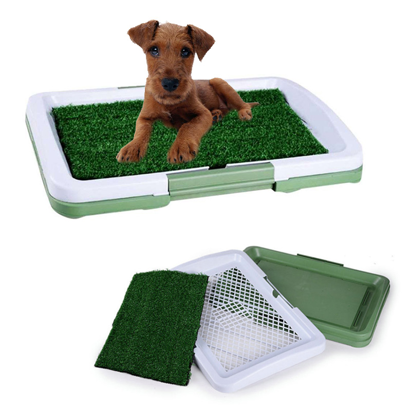 Dog Toilet 3 Layers Portable Pet Dog Potty Toilet Grass Mat Cat Litter Box Lawn For Indoor Potty Training Poop Scoop
