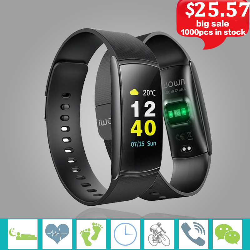 iwown I6 PRO C Smart Bracelet Heart Rate Monitor Fitness Tracker Smart Band Waterprof Sports Fitness Bracelet Smart Wristband.