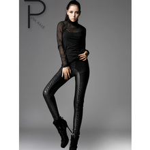 Punk Rave Gothic victorian Winter pants Leggings Lace Macbeth line WARM Women fashion S M L XL XXL 3XL PK009